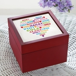 Personalized Wooden Heart Full of Love Keepsake Box
