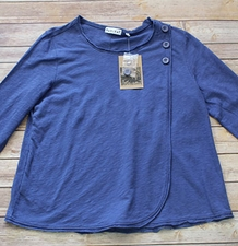 "Habitat ""Cotton Pebble Tee"" #27217 Surplice Swing Pullover"