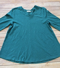 "Habitat ""Cotton Pebble Tees"" #27418 A-Line Crew Top"