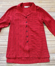 "Habitat ""Opposites Attract"" #25631 Pleat Back Easy Shirt"