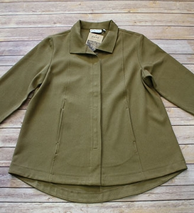 "Habitat ""Stretch Calvary Twill Jackets"" #15527 Snap Front Swing Jacket"