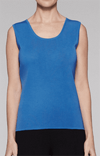 "Ming Wang ""Pointella Space"" #M7426B Scoop Neck Tank"