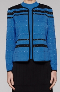 """Ming Wang """"Pointelle Space"""" #M7428AC Jacket"""