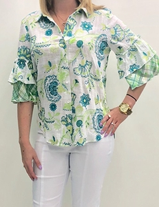"Sharon Young ""Serene Green"" #S29208BM Top"