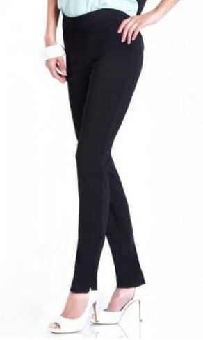 Slim Sation #M2604P Essential Modern Skinny Black Pant/No Pockets