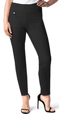 Slim Sation #M48716PMB Black Ankle Pant