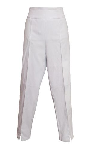 Thin Her #9827P White Ankle Pant