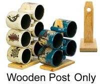 Wooden Post for 4 or 6 Mara Mugs ONLY
