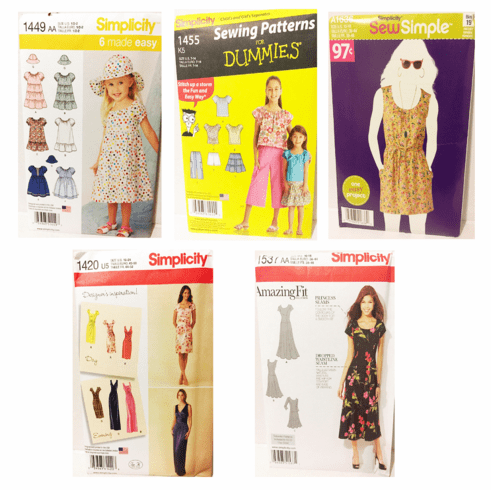 5 Stack 3 Sewing Patterns