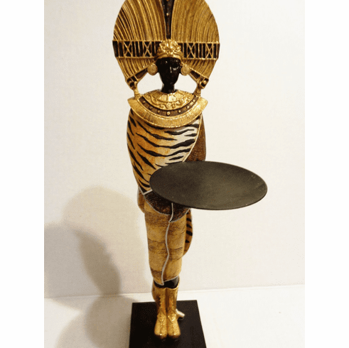 African Warrior Candly Holder