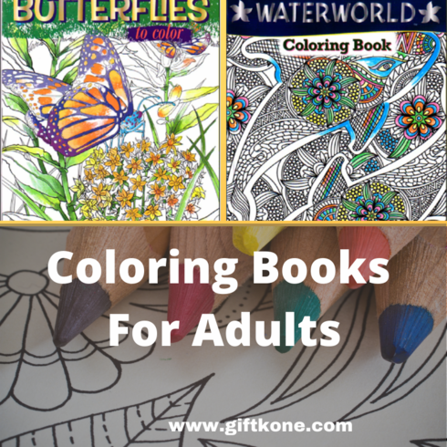 Two Coloring Books For Adults