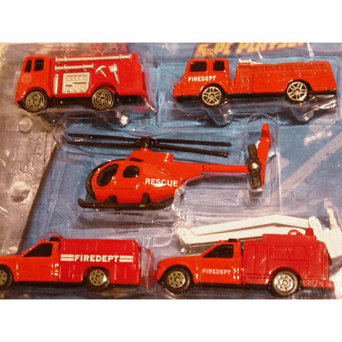 Diecast Metal Fire and Rescue Toy Set