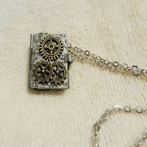Steampunk Mini Book Pendant