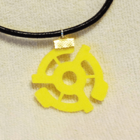 Vintage 45 rpm Record Insert Necklace