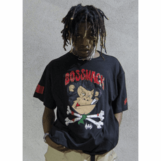 BEAST BOMPTON BLACK TEE AS ROCKED BY IAN CONNOR (AUGOR)