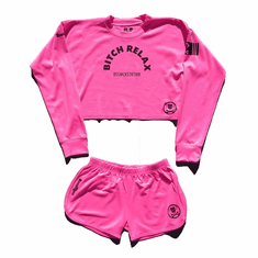 BITCH RELAX ARC PINK SHORT SET (SOLD OUT)