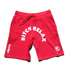 BITCH RELAX ARC RED SHORTS