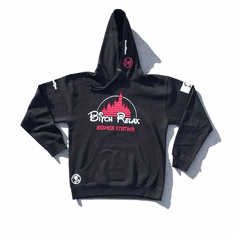 BITCH RELAX ARC RED WHITE BLACK HOODIE
