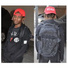 BITCH RELAX BLACK ON BLACK BACKPACK AS ROCKED BY IAN CONNOR
