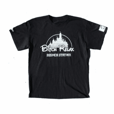 BITCH RELAX DISNEY BLACK TEE