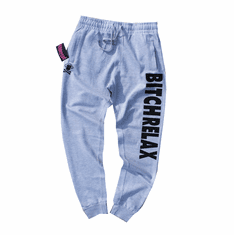 BITCH RELAX HEATHER GREY JOGGERS