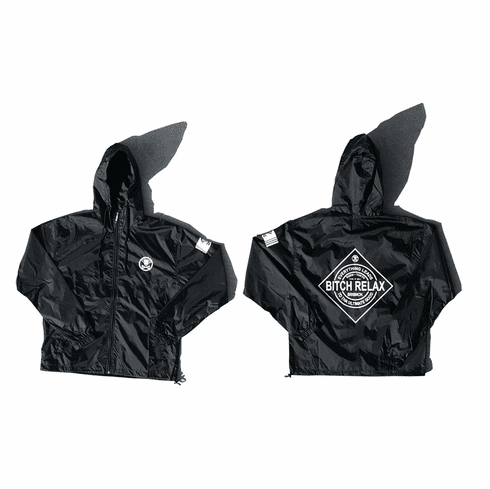 BITCH RELAX  HOODED COACHES JACKET
