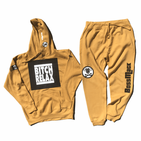 BITCH RELAX MUSTARD SUIT