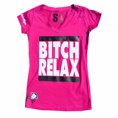BITCH RELAX PINK TEE