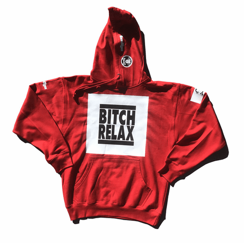 BITCH RELAX RED BARON HOODIE