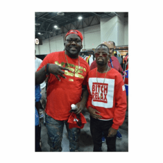 BITCH RELAX RED BOX CREWNECK AS ROCKED BY @WELVENDAGREAT