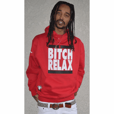 BITCH RELAX RED OG HOODIE