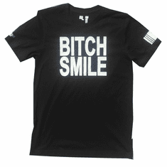 BITCH SMILE BLACK AND WHITE TEE