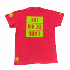BITCH THINK GOOD THOUGHTS GRANNY SMITH TEE