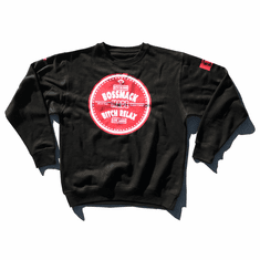 BOSSMACK MADE RED WHITE AND BLACK CREWNECK