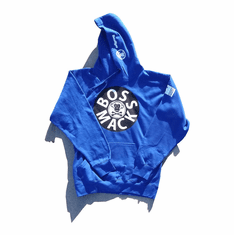 BOSSMACK RECORD BLUE WHITE BLACK HOODIE