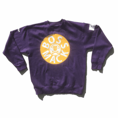 BOSSMACK RECORD PURPLE GOLD WHITE CREWNECK (KOBE)