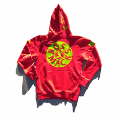 BOSSMACK RECORD RED AND GREEN HOODIE