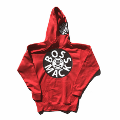 BOSSMACK RECORD RED WHITE BLACK HOODIE