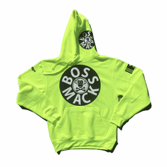 BOSSMACK RECORD SAFETY YELLOW HOODIE
