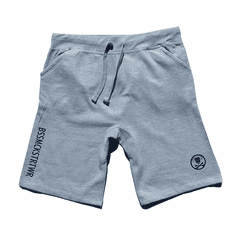CIRCLE LOGO HEATHER GREY SHORTS