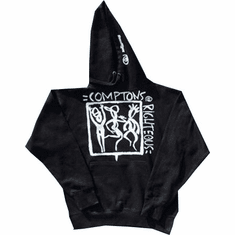 COMPTONS RIGHTEOUS BLACK AND WHITE HOODIE
