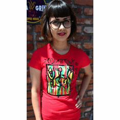 COMPTONS RIGHTEOUS RED TEE
