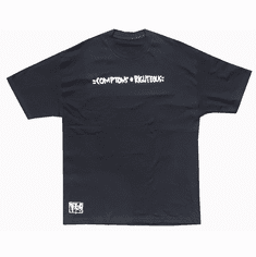 COMPTONS RIGHTEOUS - REGULAR BLACK TEE