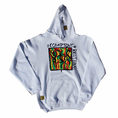 COMPTONS RIGHTEOUS WHITE PULLOVER HOODIE