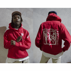COMPTONS RIGHTEOUS X IAN CONNOR RED HOODIE