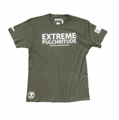 EXTREME PULCHRITUDE OLIVE GREEN  TEE
