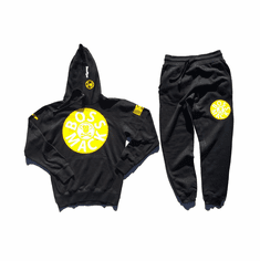 RECORD BLACK YELLOW WHITE SUIT