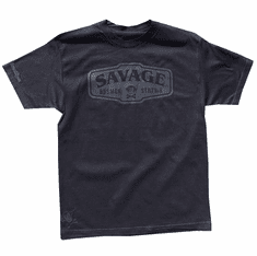 SAVAGE BLACK ON BLACK TEE