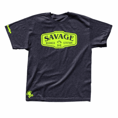 SAVAGE CHARCOAL HEATHER BOLD TEE
