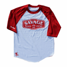 SAVAGE RED AND WHITE BASEBALL